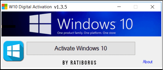 Windows 10 Digital Activation Program v1.3.5.0 Portable(Latest)