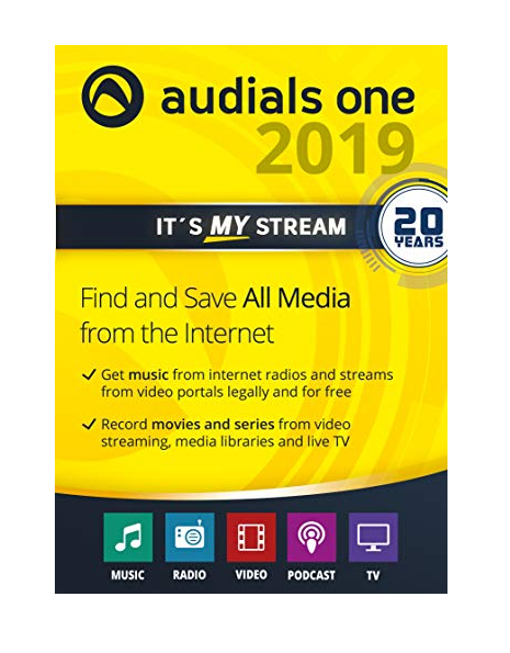 Audials One 2019 Platinum+Serial key For Windows 10, 8 1,8, 7(Latest