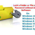 How to Lock Folder on Windows 10/8.1/8/vista/7/Xp Without Any Software