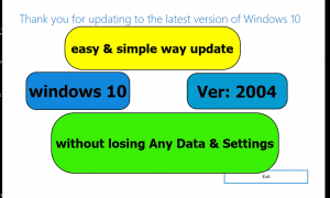 How to Update Windows 10 without losing any data or setting