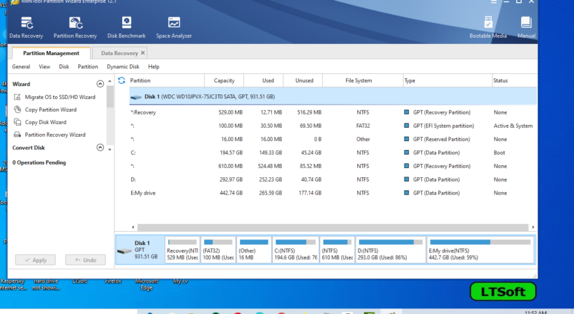 Minitool Partition wizard v12.1 full free Download